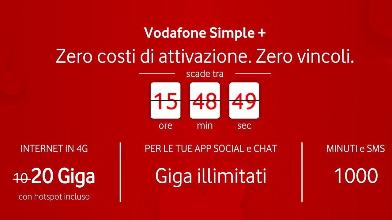 Vodafone Simple + | Evosmart.it