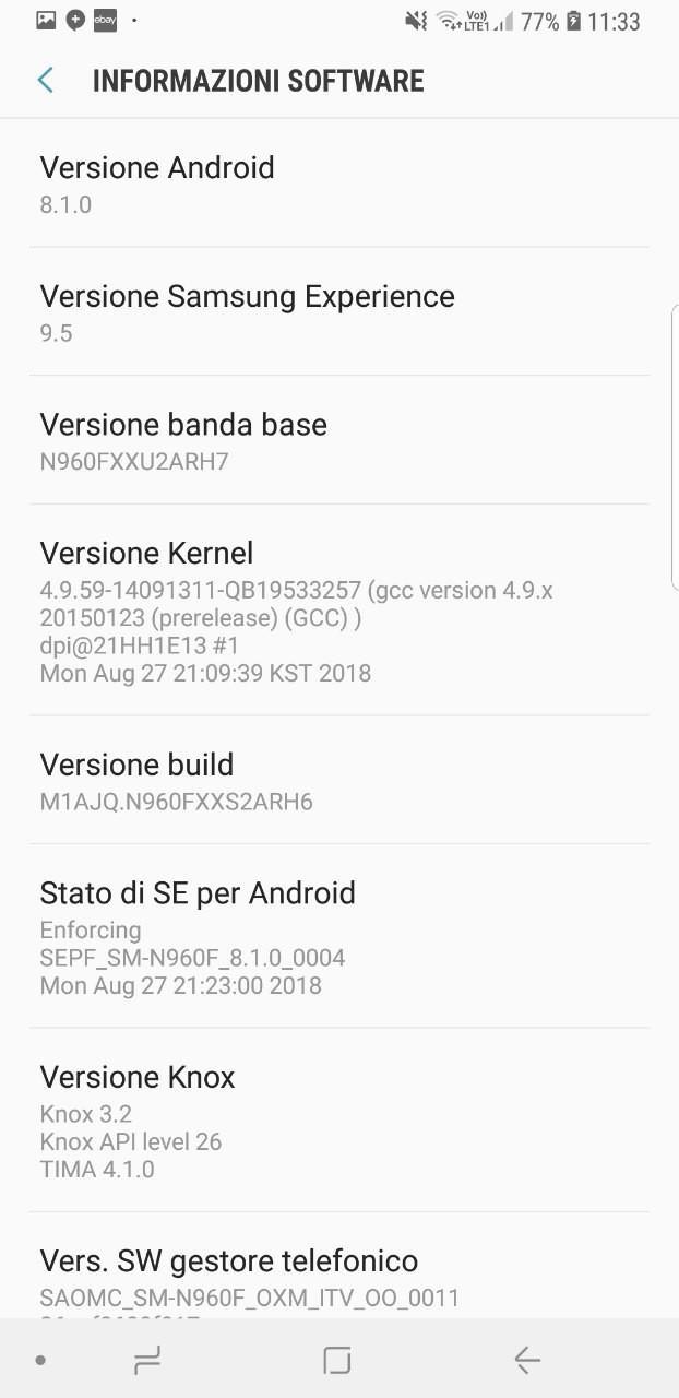 Numero build update settembre | Evosmart.it