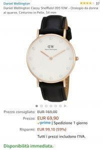Offerta orologio Daniel Wellington