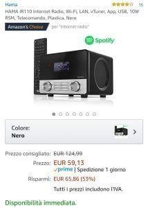 Radio offerta