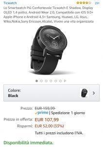 Ticwatch offerta evosmart