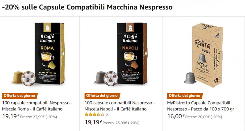 capsule nespresso offerta