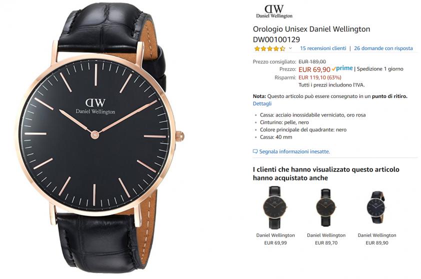 orologio dw offerta