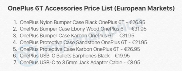 OnePlus 6T accessori
