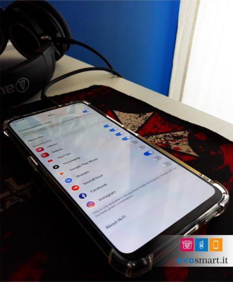 Impostazioni Hi-Fi di Vivo NEX S. Se disattivate, il suono erogato in cuffie sarò quello del DAC integrato allo Snapdragon 845. | Evosmart.it