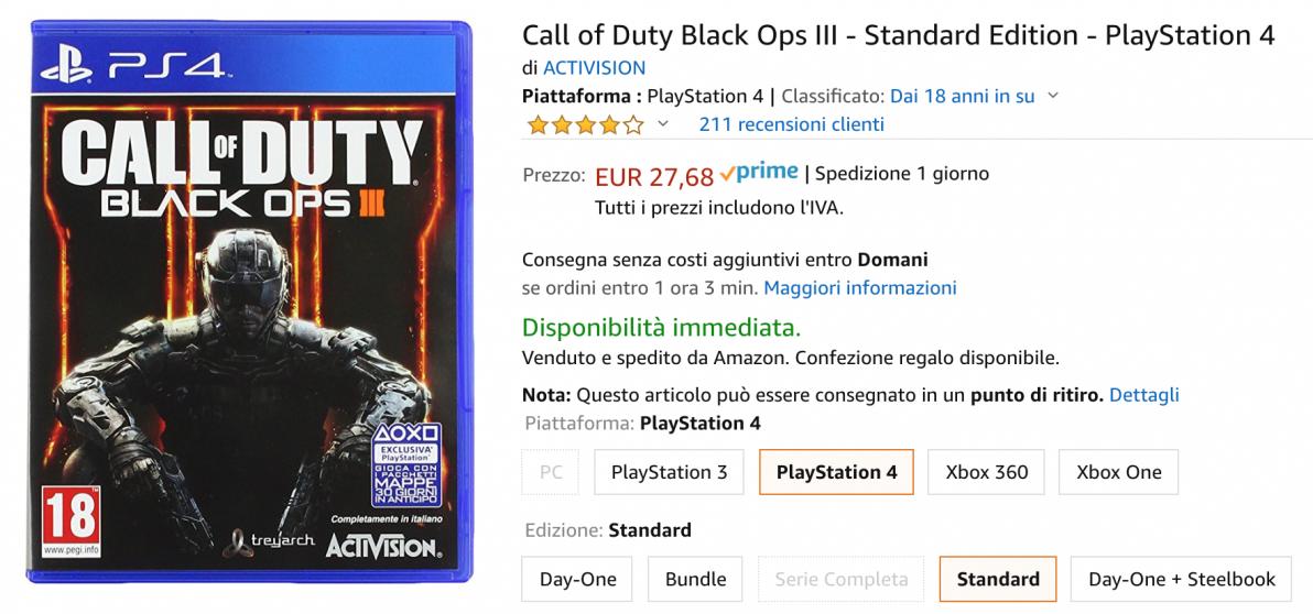 call of duty offerta