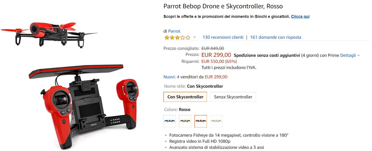 drone parrott offerta
