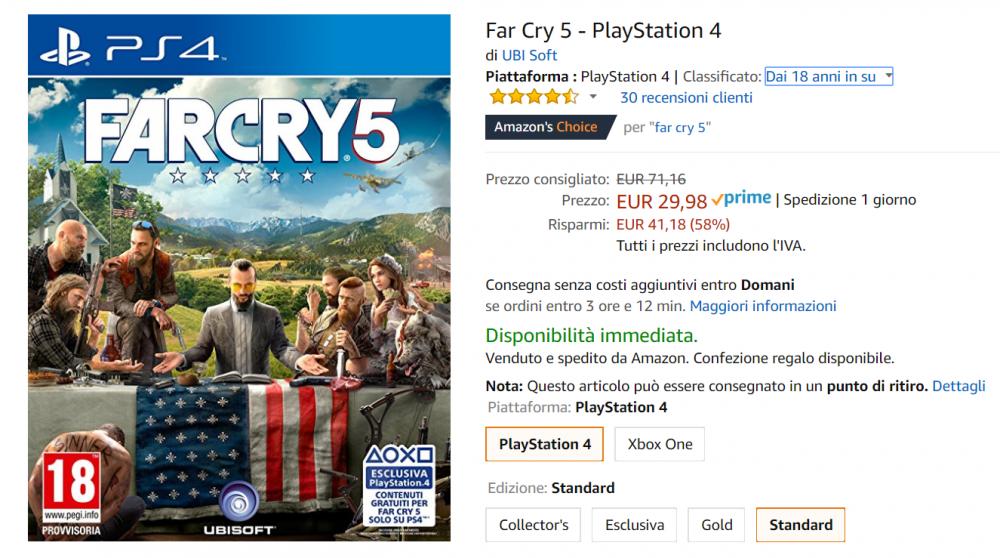 far cry 5 offerta