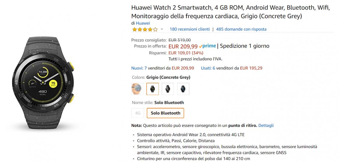 huawei watch 2 offerta