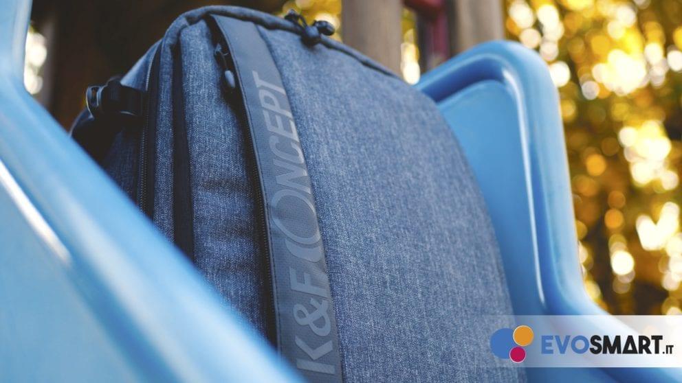 Lo zaino K&F Concept è realizzato in nylon resistente all'acqua