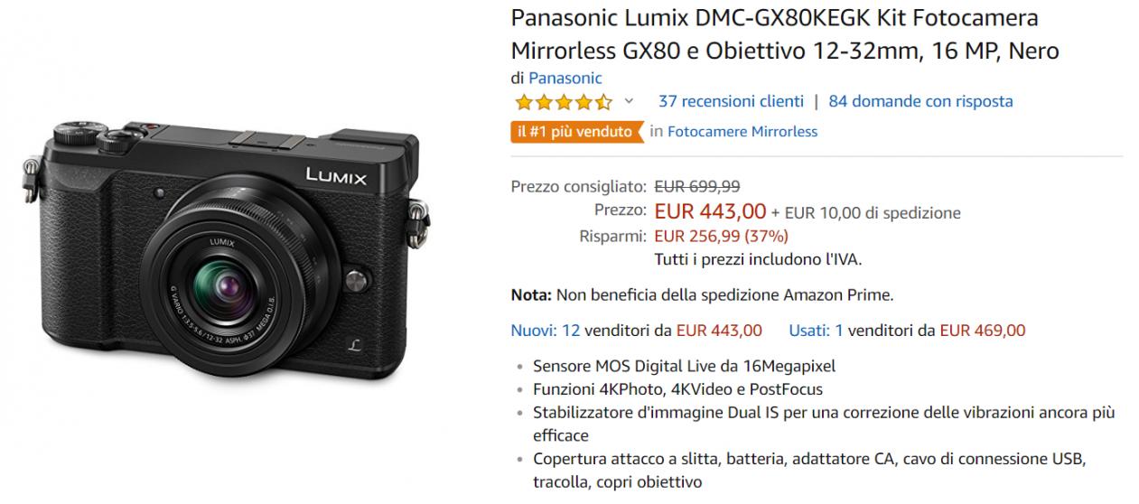 lumix offerta