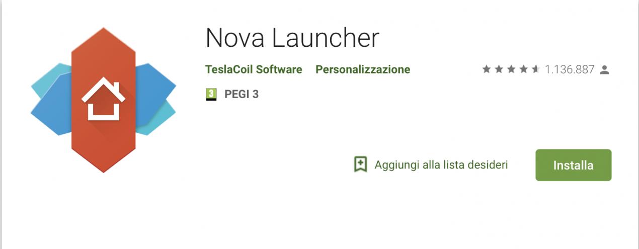 nova launcher play store