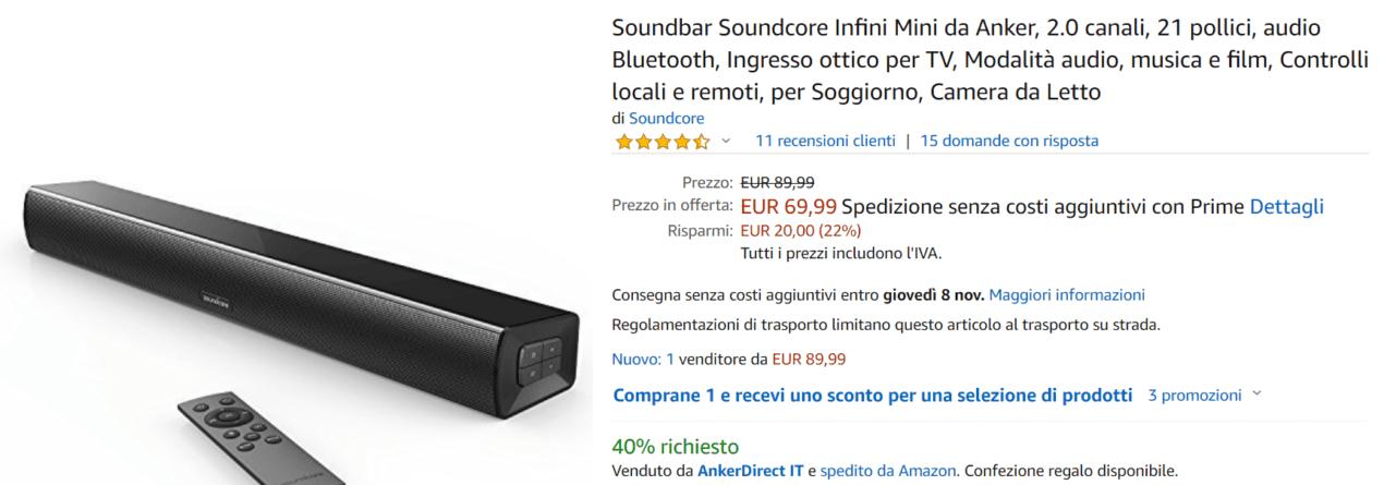 soundbar offerta