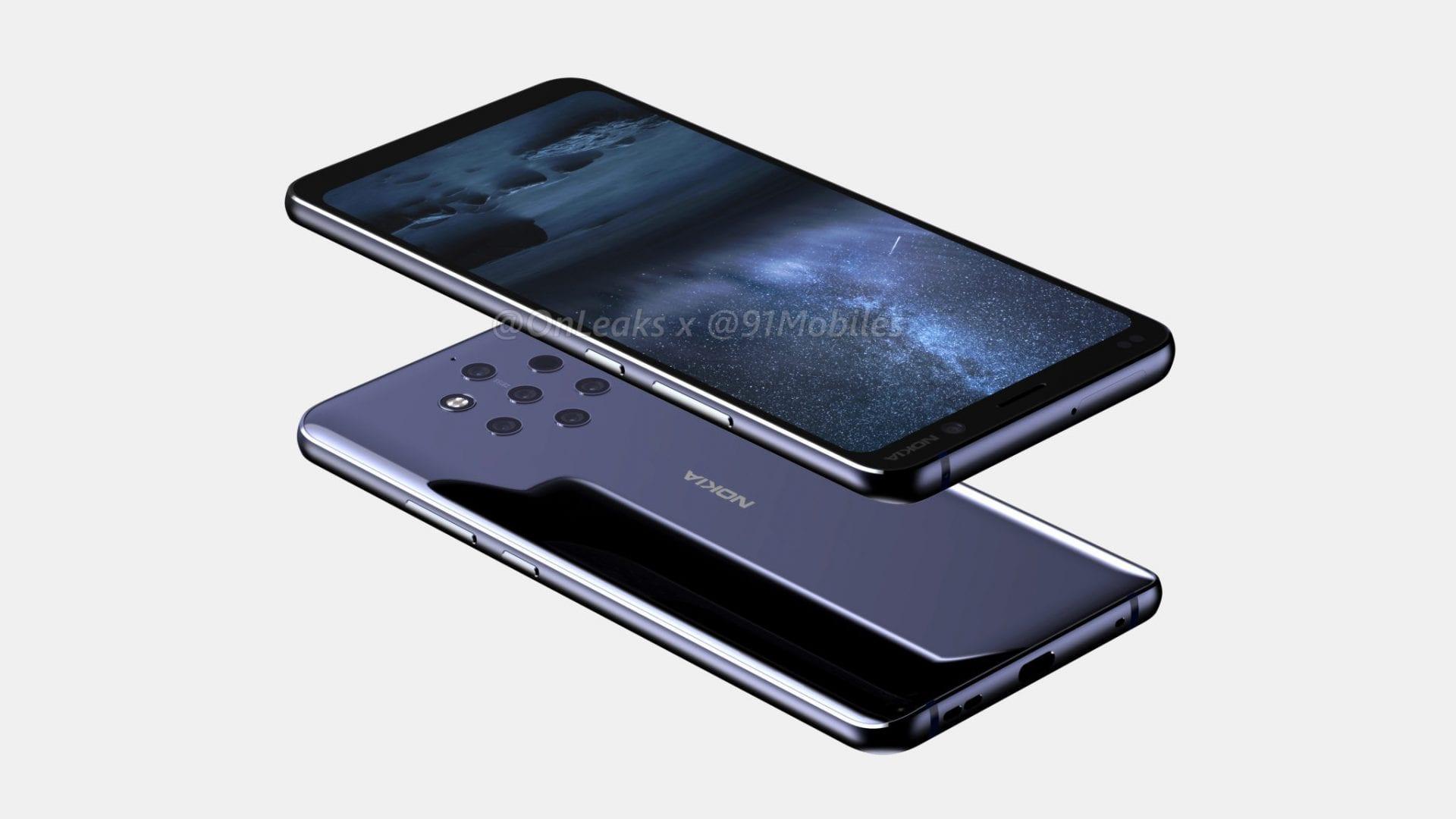 Nokia 9: nuovi render confermano la presenza di 5 fotocamere