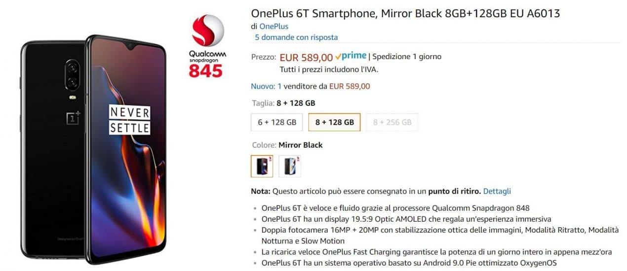 oneplus 6t offerta