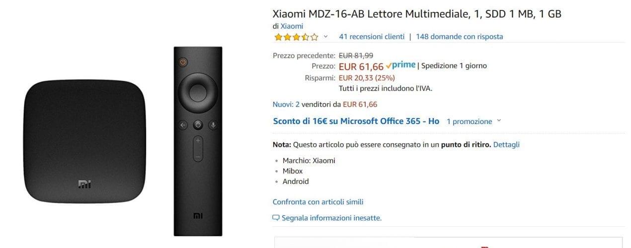 XIAOMI BOX OFFERTA AMAZON