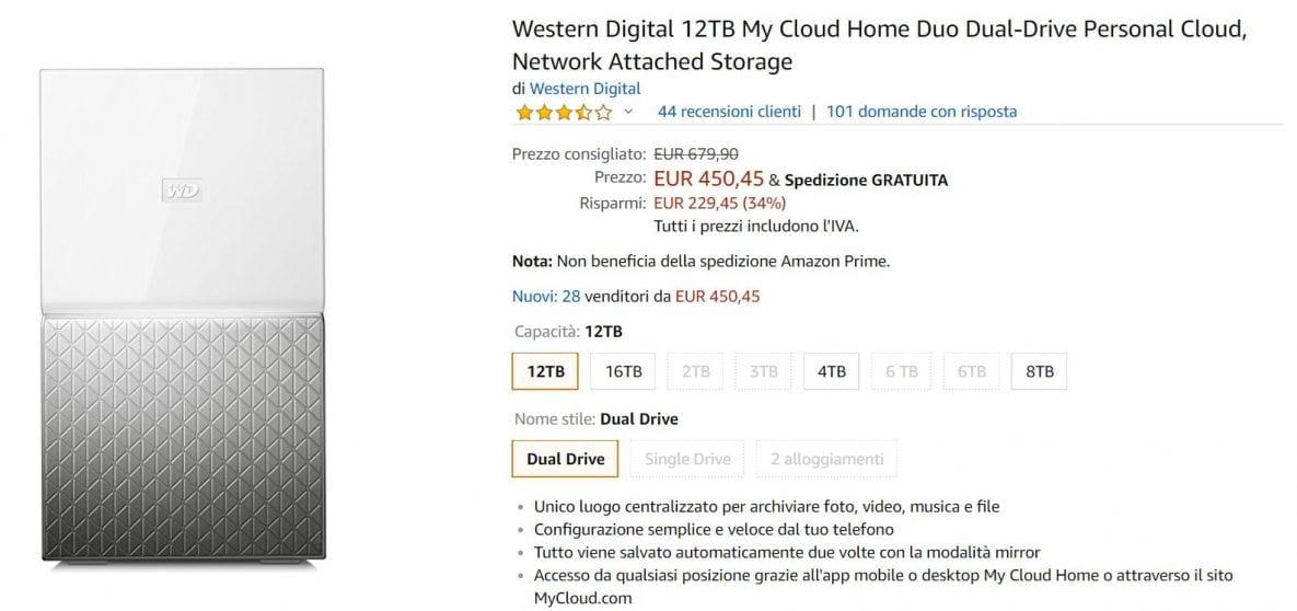 cloud wd offerta amazon