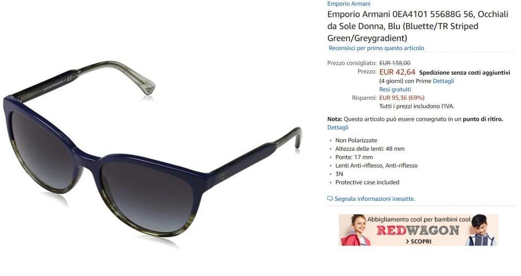 occhiali offerta amazon