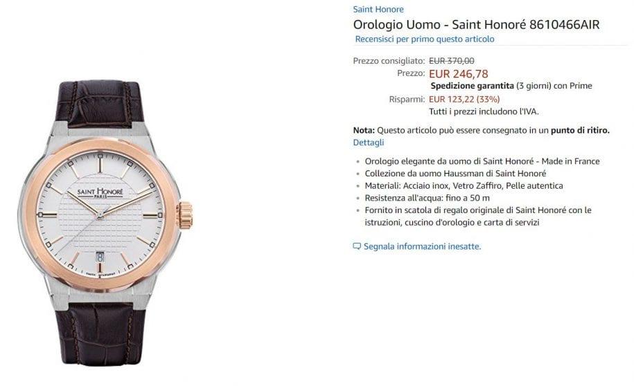 orologio offerta amazon
