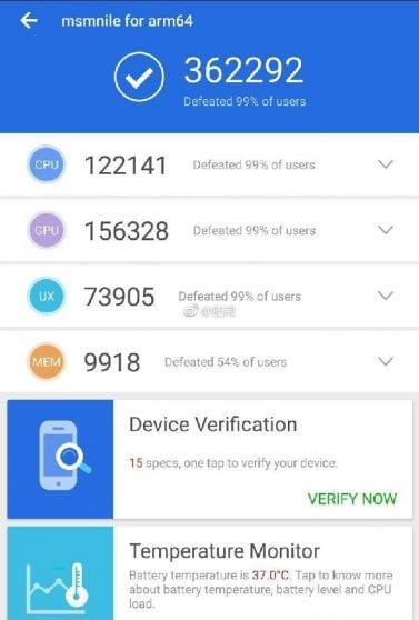 Snapdragon 8150 appare su AnTuTu ed è già da record!