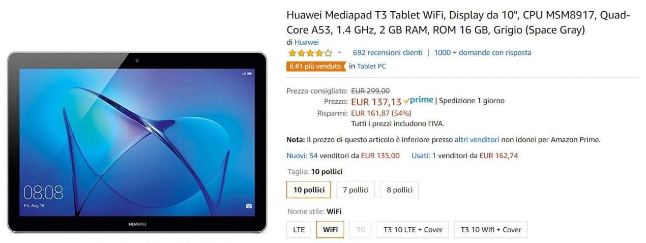 tablet offerta amazon