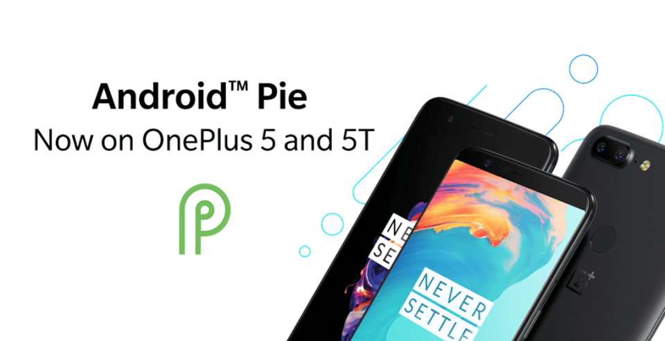 Android Pie OnePlus 5 5t