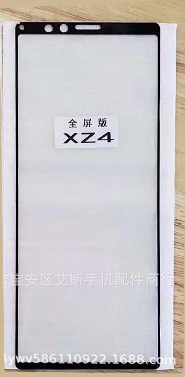 Xperia XZ4, trapela la foto del suo vetro protettivo: confermata la diagonale da 21:9