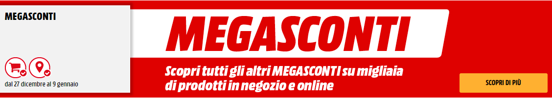 """Arrivano i """"MegaSconti"""" da MediaWorld"""