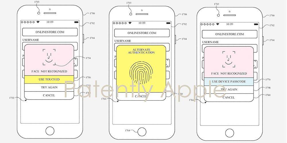 Un brevetto depositato mostra Face ID e Touch ID nello stesso dispositivo.