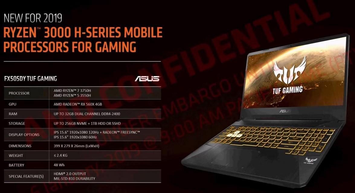 AMD ufficializza i Ryzen Mobile 3000