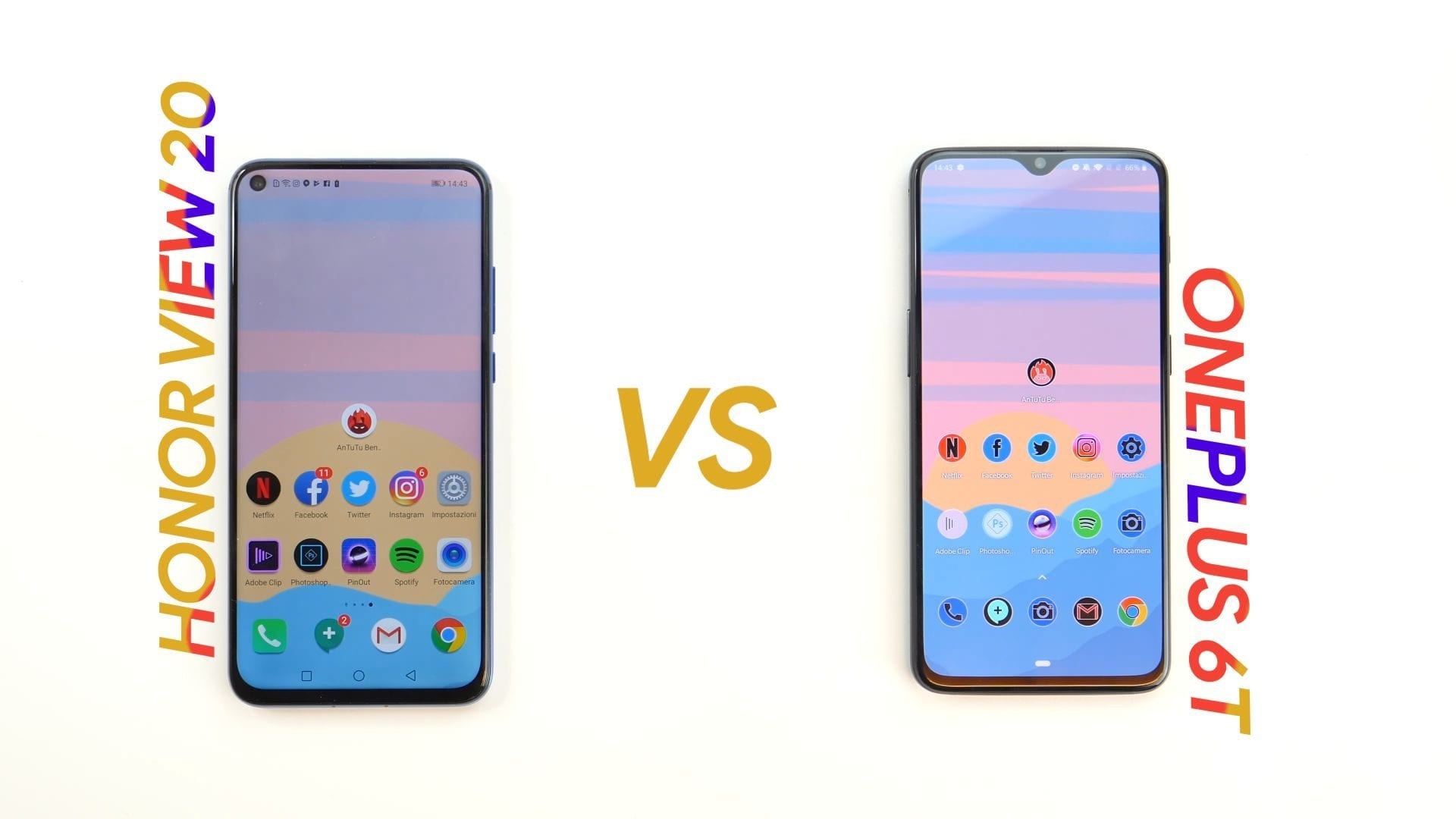honor v20 vs oneplus 6t 1