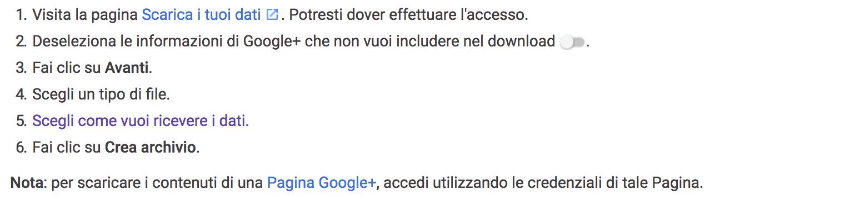Come recuperare i nostri dati da Google+ con questa guida