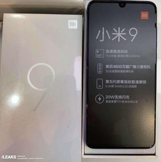 Xiaomi MI 9 confezione di vendita