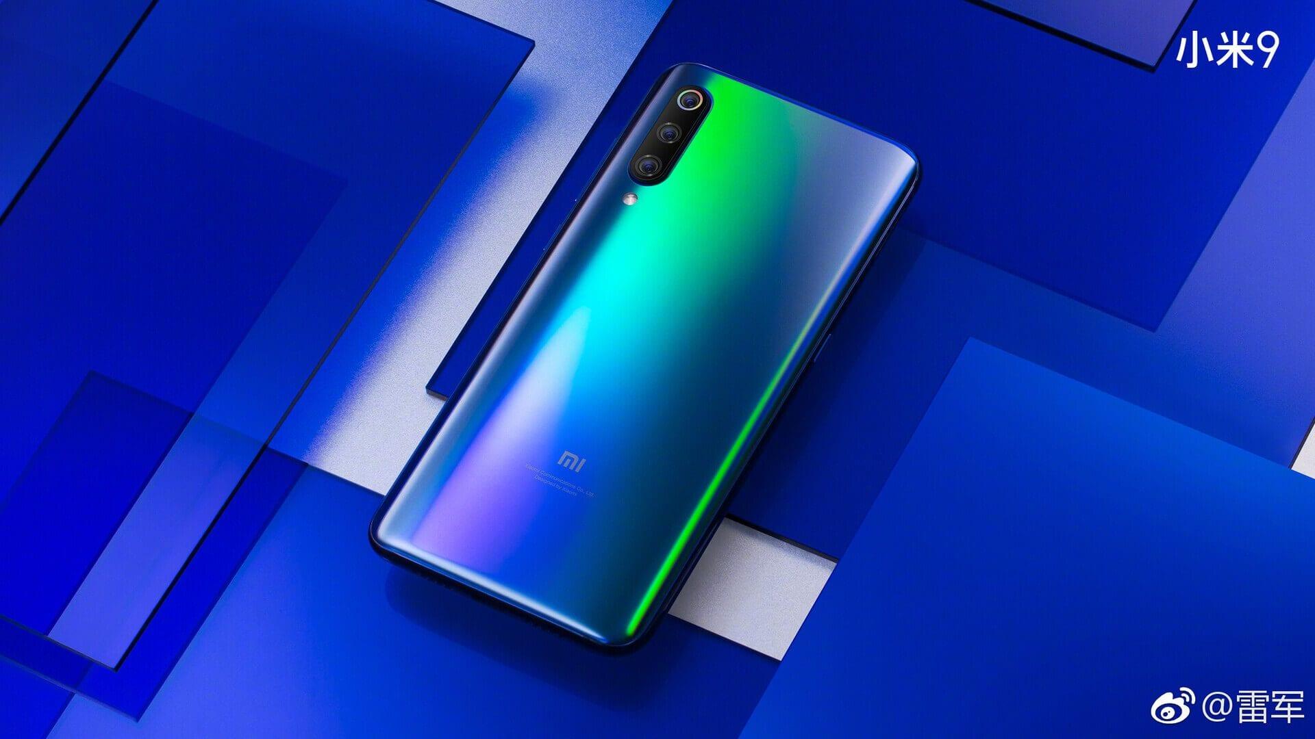 Xiaomi Mi 9 colorazione blu