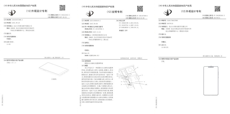 Xiaomi fotocamera Pop-up