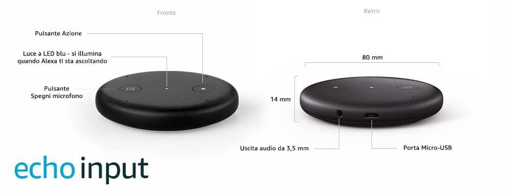 Echo imput il nuovo gadget Amazon