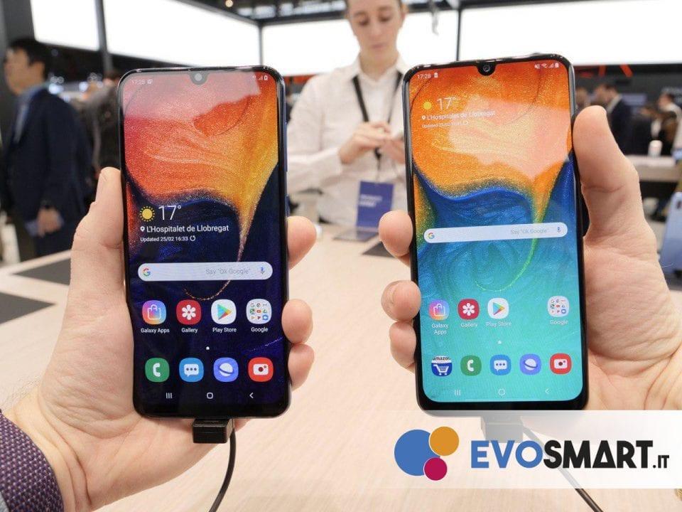 Ecco Galaxy A30 e Galaxy A50 affiancati | Evosmart.it