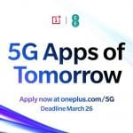"OnePlus lancia il programma ""5G Apps of Tomorrow"""