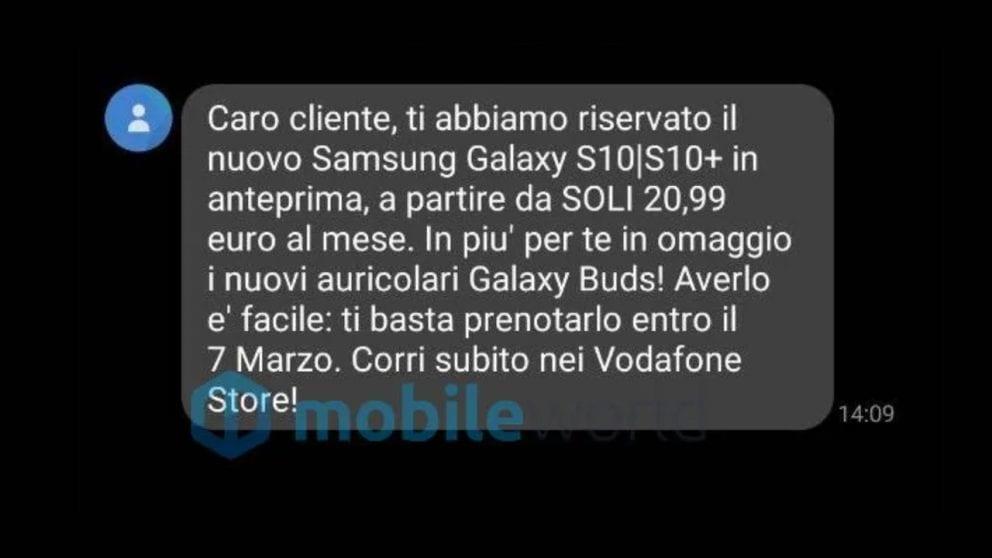 Vodafone lancia la prima offerta rateale per Galaxy S10