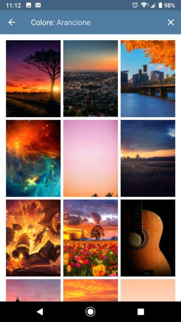 È possibile ricercare le immagini anche in base al colore | Evosmart.it