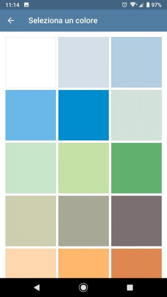 Come nelle precedenti versioni è possibile selezionare un colore come sfondo | Evosmart.it