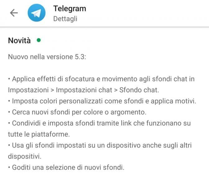Telegram: il nuovo aggiornamento potenzia la personalizzazione degli sfondi