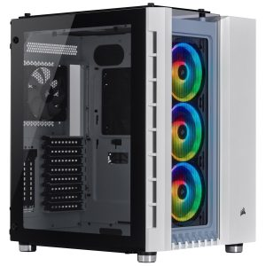 Corsair Crystal Series 680X RGB ATX High Airflow Tempered Glass Smart Case — White