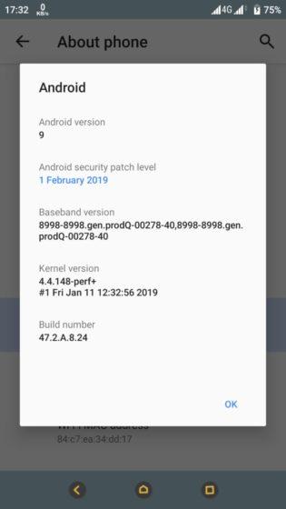 Xperia XA1 patch febbraio 2019 (1)