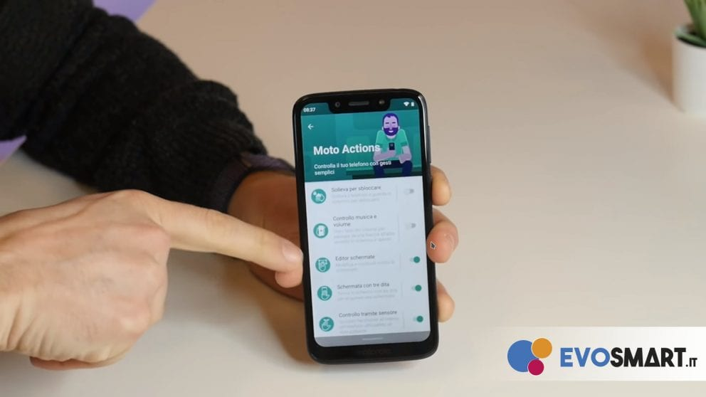 moto g7 play actions