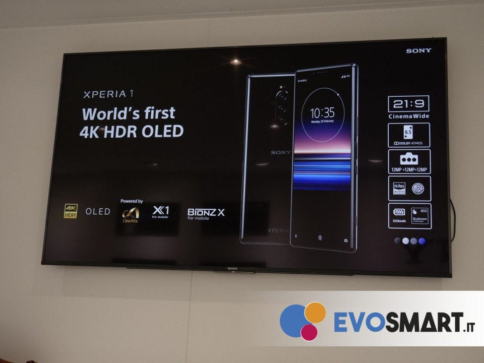 Sony esalta il nuovo display 4K OLED 21:9 | Evosmart.it