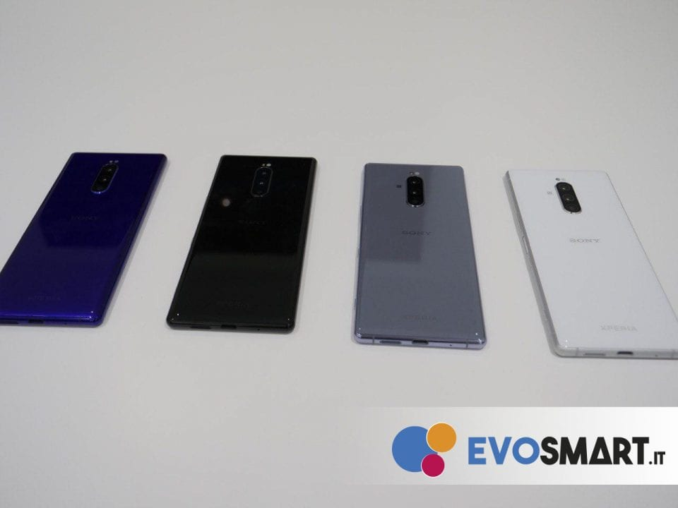 Le colorazioni disponibili di Xperia One | Evosmart.it