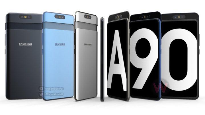 Galaxy A90 render