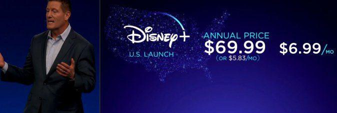 Disney+ proposto ad un abbonamento mensile di 6,99$