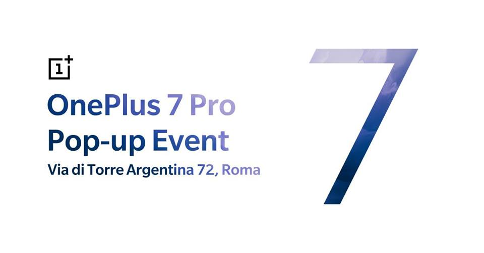 OnePlus 7 Pro pop up roma